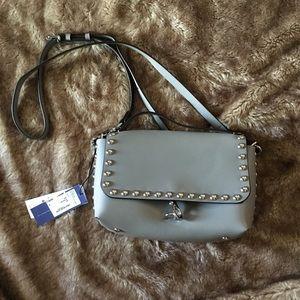 NWT Rebecca Minkoff Grey Leather Cross Body Bag